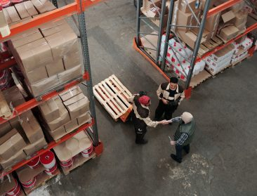 Teamwork at a distributor